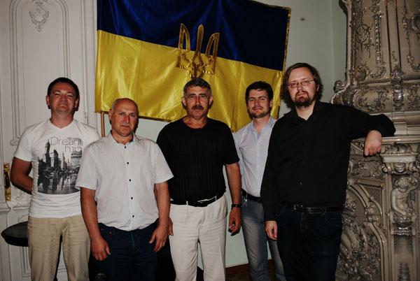 Голова НСПУ Михайло Сидоржевський з білоруською делегацією