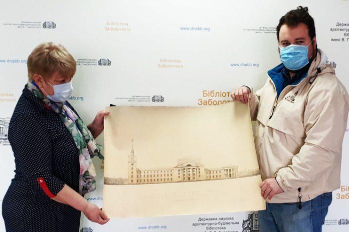 Кияни купили на аукціоні ескіз будинку культури та подарували архітектурній бібліотеці