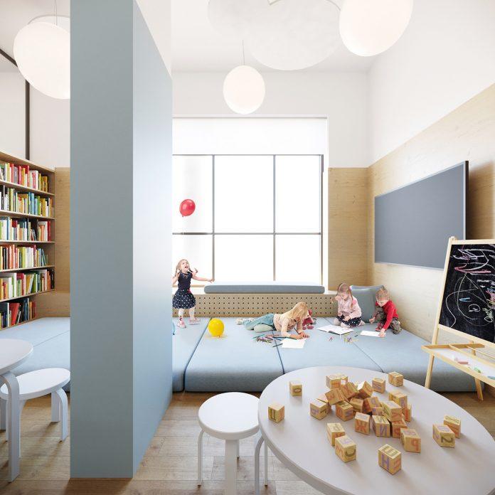 Проєкт Привітної Бібліотеки у Львові створила дизайнерка Оксана Коцюруба