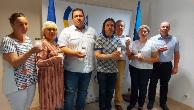 Посольство України в Естонії вшанувало пам'ять жертв війни в Україні