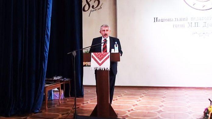 Виступ голови Національної спілки письменників України Михайла Сидоржевського на урочистих зборах…